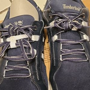 Timberland mens sneakers blue 12 gently used